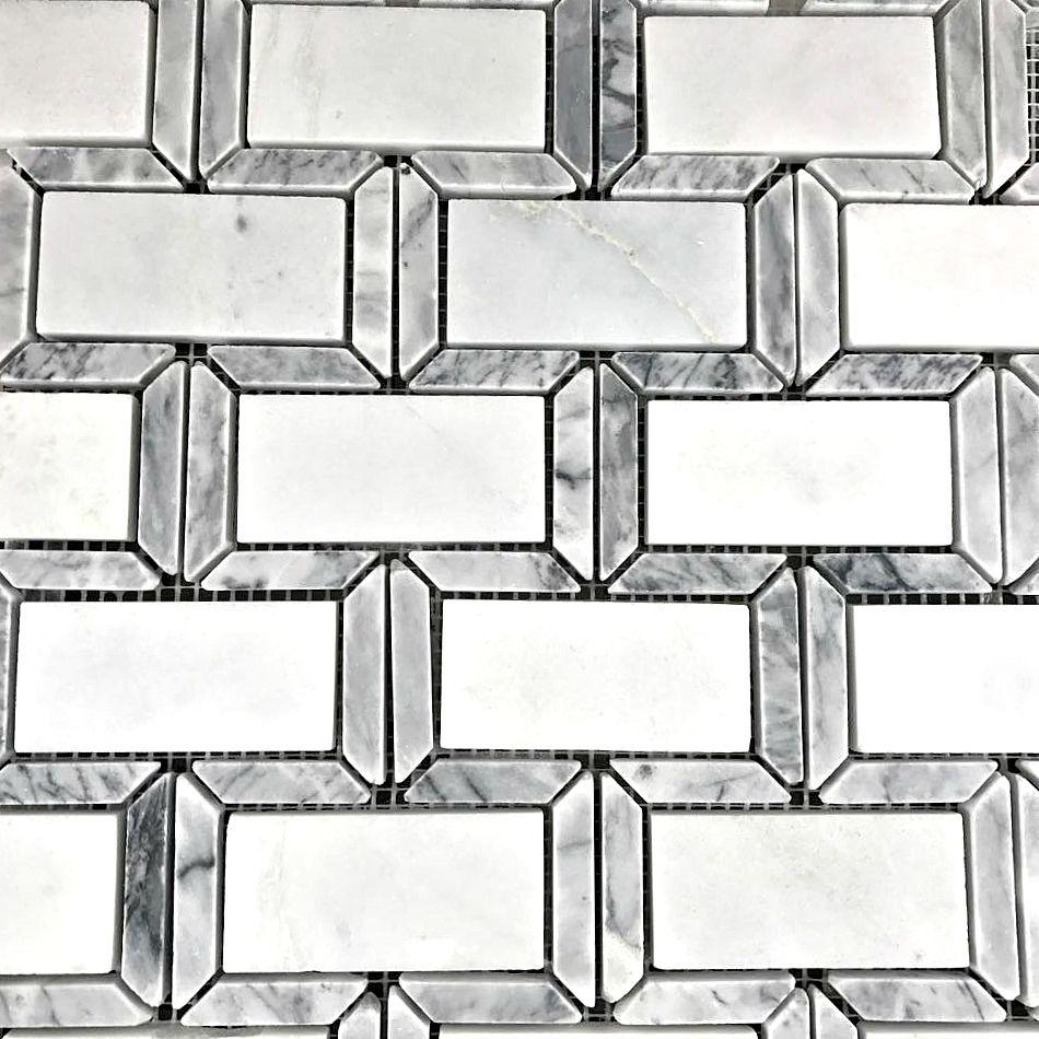 Carrara Marble W/Gray Border Frame 2\