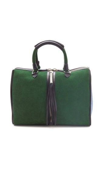 d865b593eb9048 ONE by Alcantara Lindy Bag....um, yes please. Green shall be the new black.