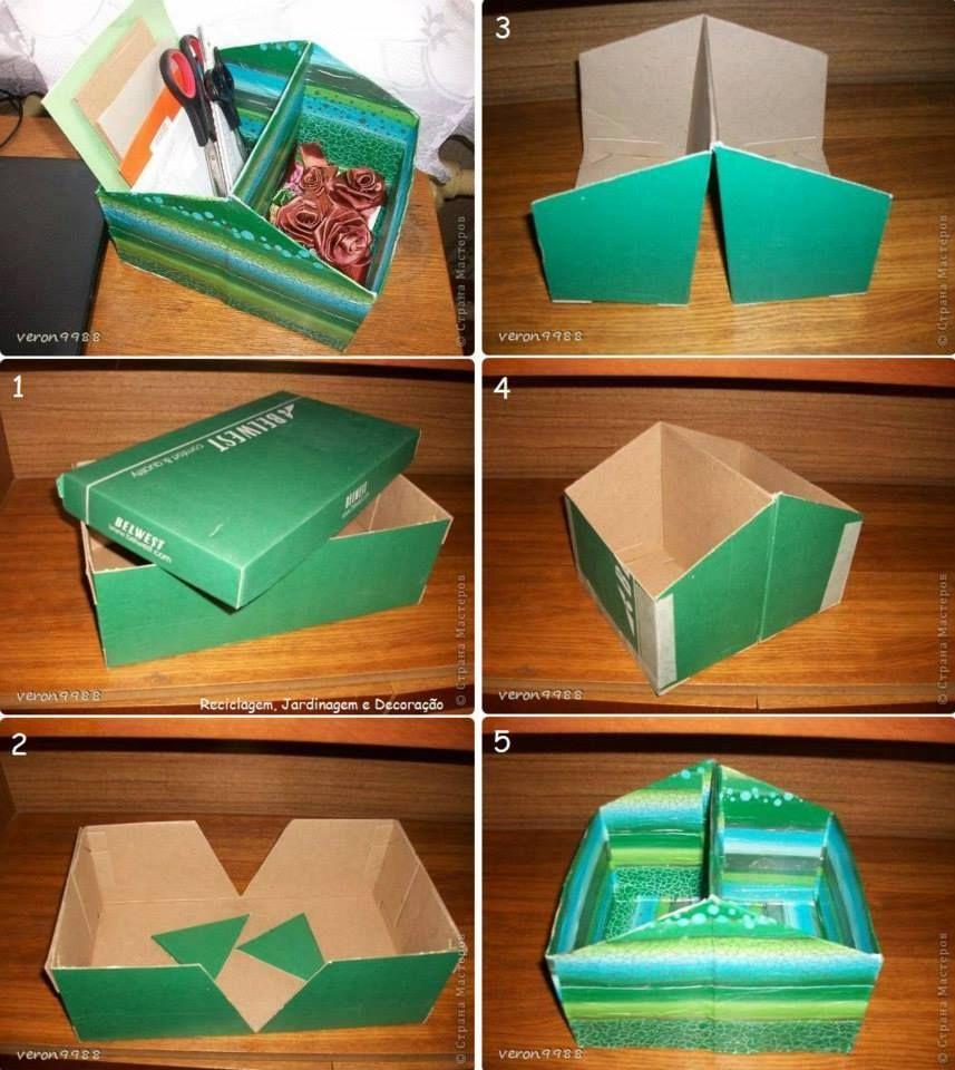 Como Reutilizar Uma Caixa De Sapatos Para Virar Um Porta Objetos