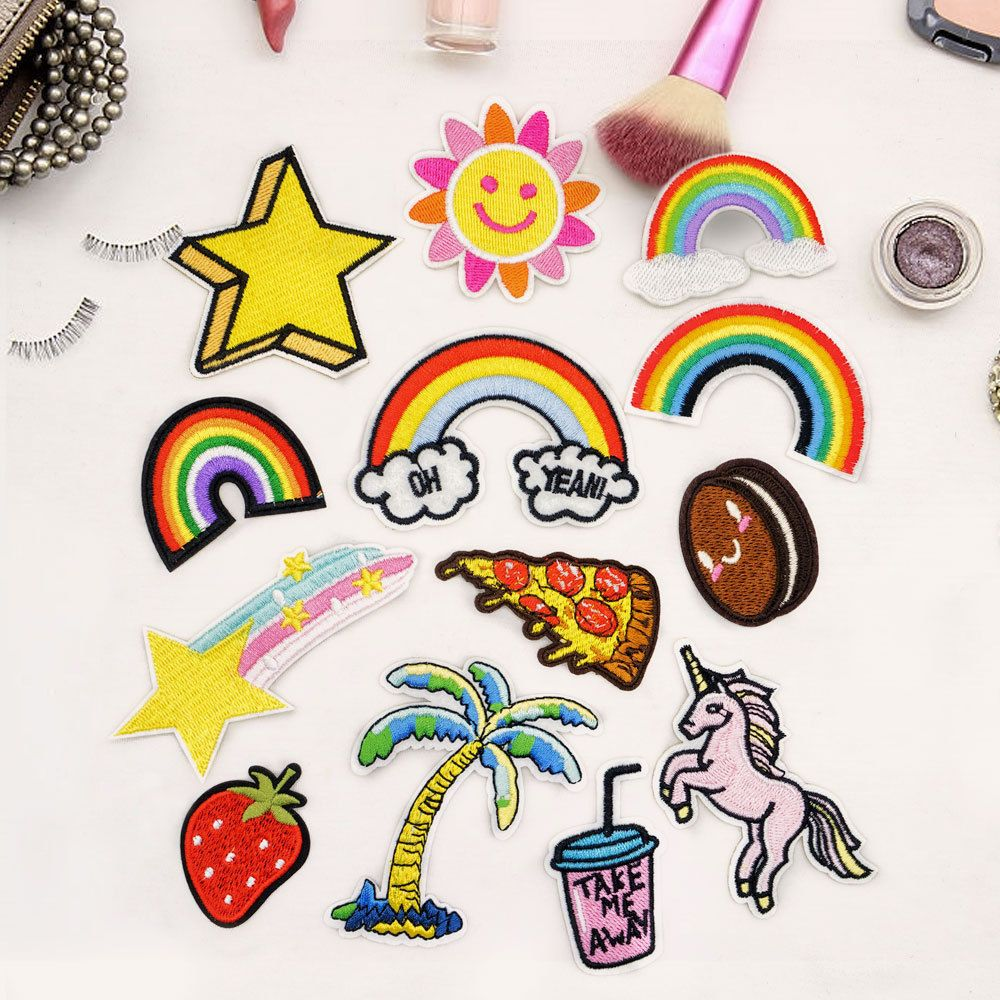 Rainbow Iron-on Patches Transfers Stickers for Diy Clothes Appliqued FO
