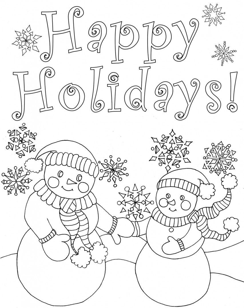 Disney Happy Holidays Coloring Pages Cool Coloring Pages Christmas Coloring Cards Printable Christmas Coloring Pages