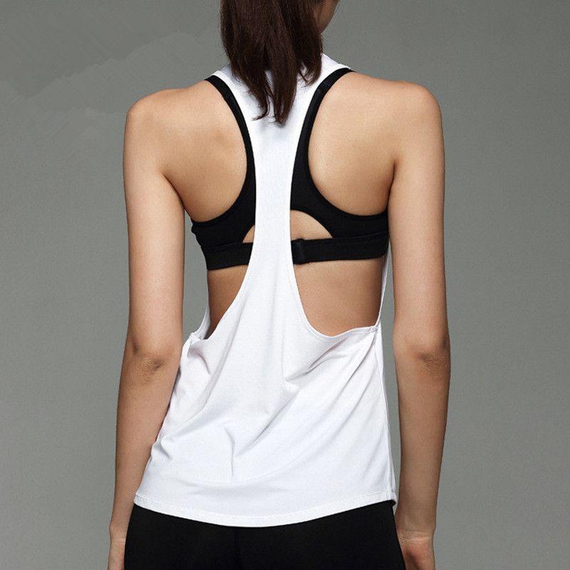 Sirène Courbe Sexy Femmes Gym Sport Gilet Débardeurs Exercice D entraînement  Lâche Respirant Yoga De Remise En Forme T-Shirts 2fac3086e21