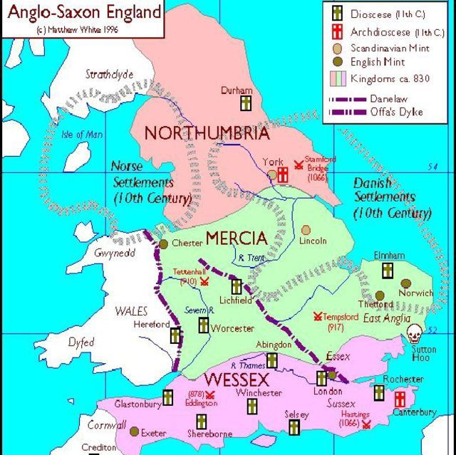 Show Map Of England.England The Middle Ages Map Of Britain England Map Anglo Saxon
