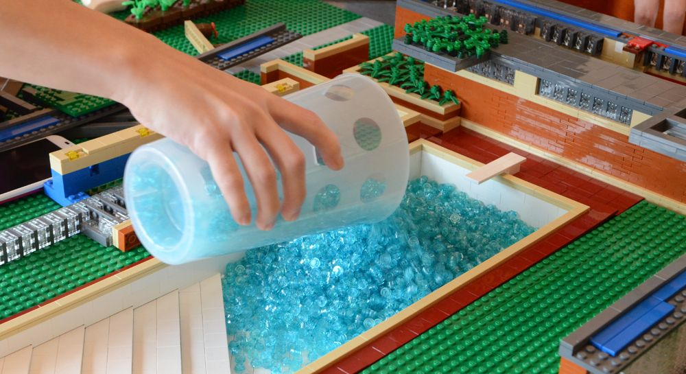 how to build a swimming pool with bricks