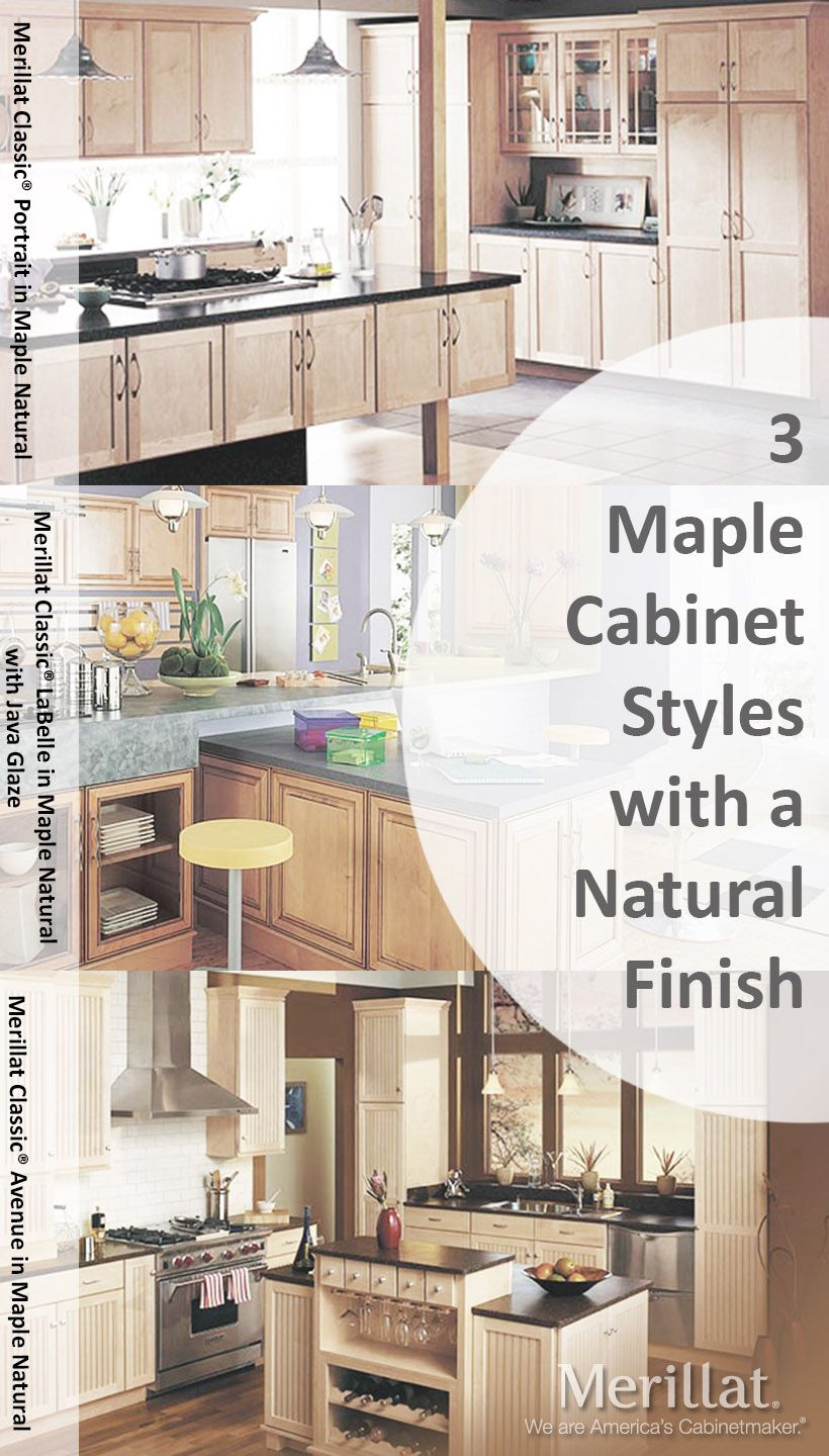 Merillat Classic® Maple Cabinetry in a Natural Finish. Visit us ...