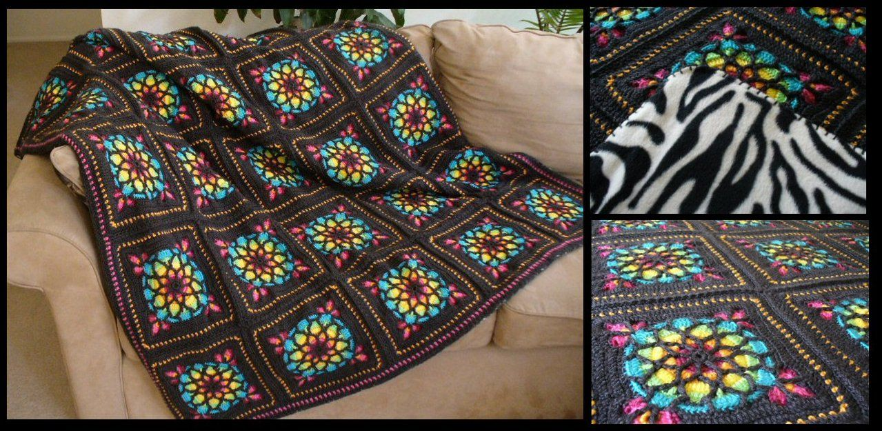 Colors Listed Here Stained Glass Window Afghan By Radioactive