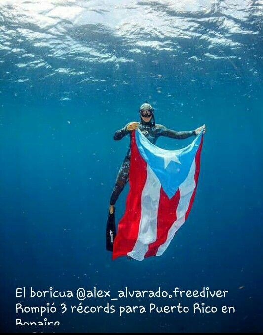 El Boricua @alex_alvarado.freediver Rompió 3 Récords Para