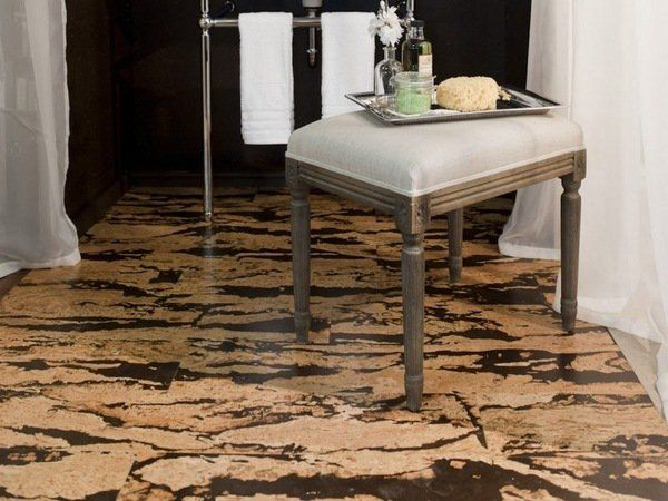 Cork Floor Modern Color Marble Effect Bathroom Flooring Ideas Look