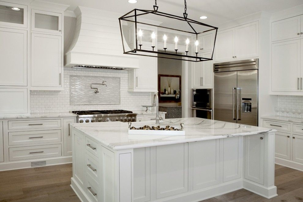 Splendid Cambria Torquay Quartz With Gl Front Cabinets Black Chandelier