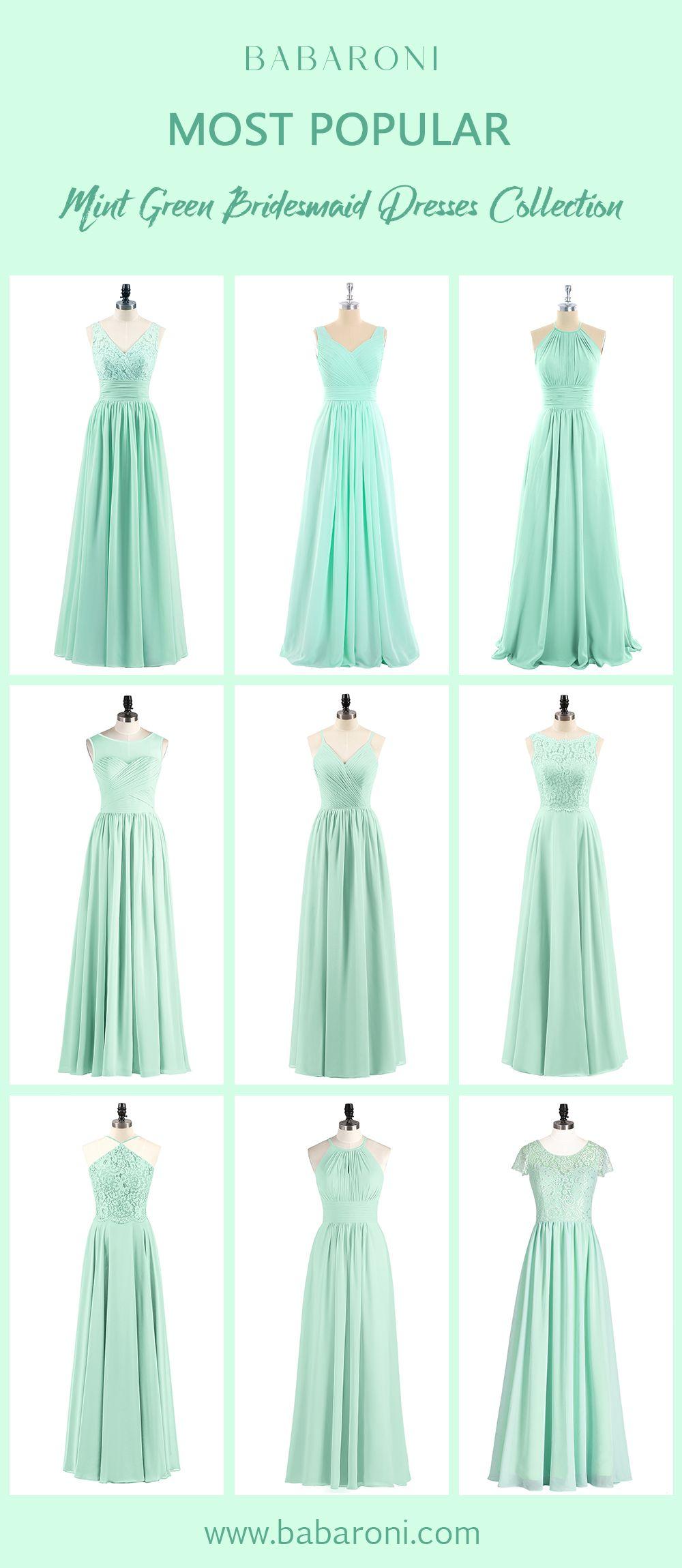 Brautjungfernkleider  Grüne hochzeitskleider, Grüne