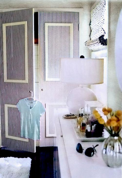 striped doors