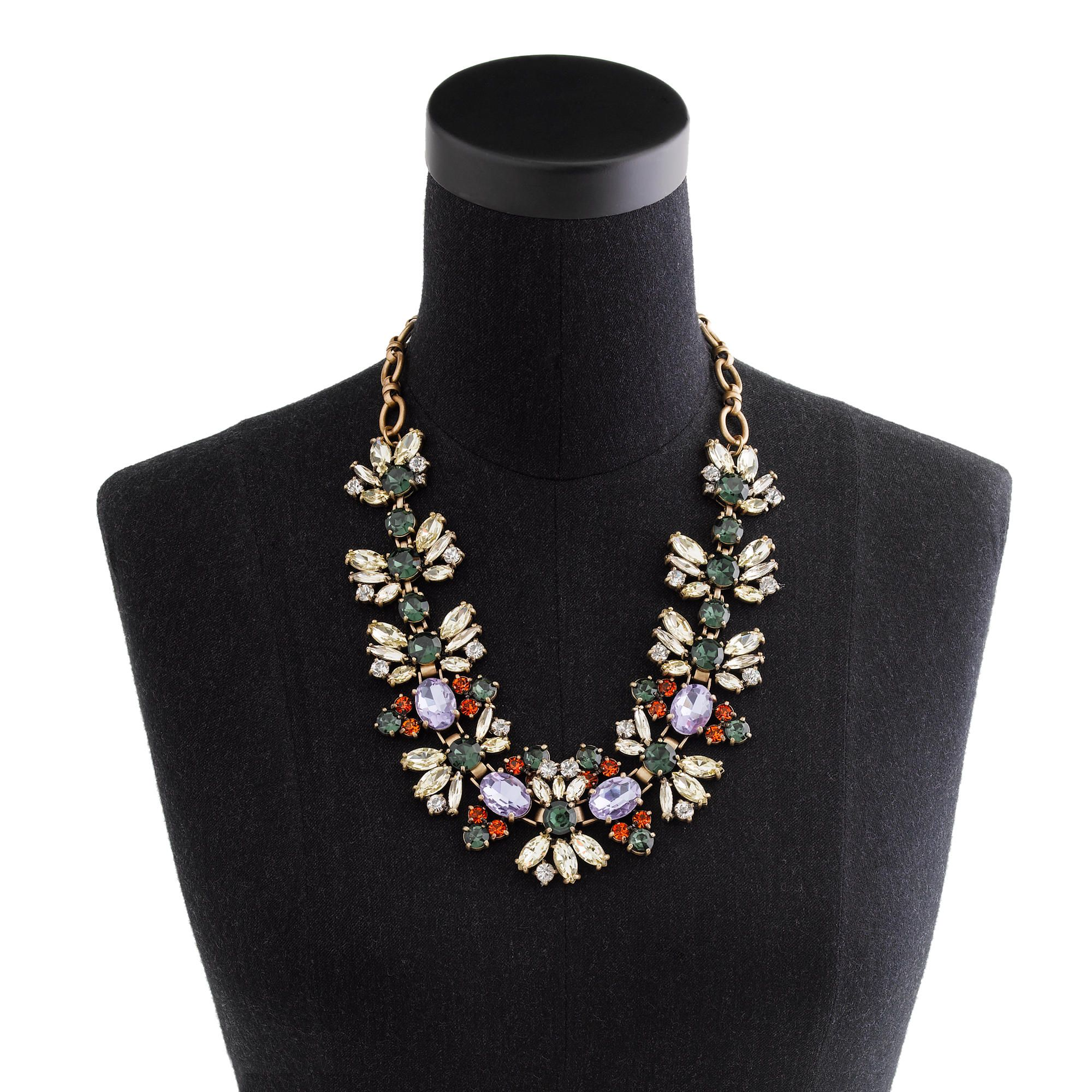 Fall floral crystal necklace necklaces jcrew statement