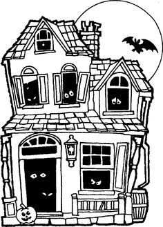 Halloween Spooky House Drawing.Easy Haunted House Drawing Google Search Haunted Houses