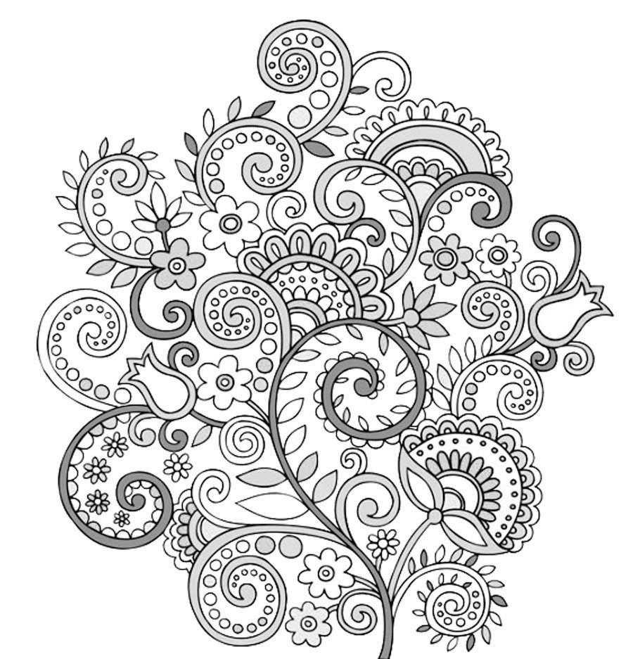 Flower Doodles - Doodle Coloring Pages | Do you Do-odle | Pinterest ...