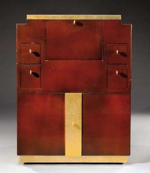 JEAN PASCAUD (1903-1996) Exceptionnel et rare meuble bar à système à