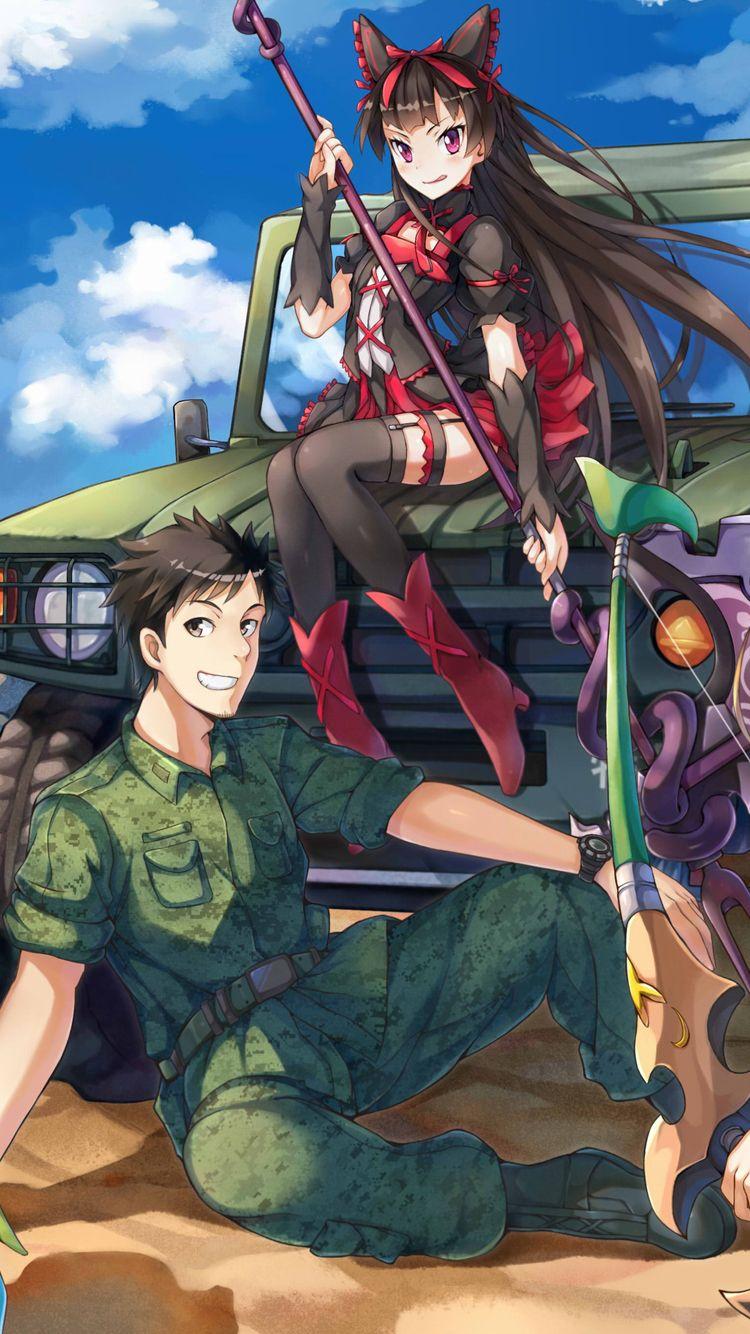 Gate, Rory + Youji, by Daisuke Izuka Anime military