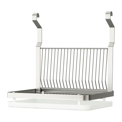 GRUNDTAL Dish drainer IKEA Can be hung on GRUNDTAL rail; clears work ...