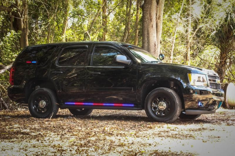 2013 Chevy Tahoe Outfitted With Blue Red Hg2 Side Runners Fort