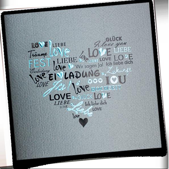 Moderne Mehrsprachige Einladungskarten Zur Hochzeit Ein Grau Silbern Schimmernder Stukturierter Hochzeitseinladung Einladungstext Hochzeit Einladungstext