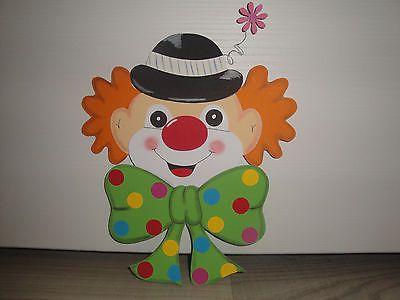 tonkarton fensterbild clown kopf karneval fasching. Black Bedroom Furniture Sets. Home Design Ideas