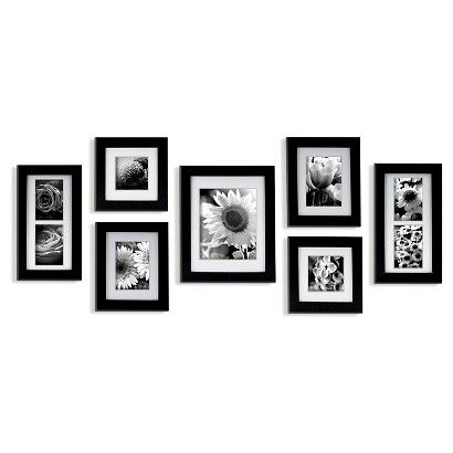 7 Piece Frame Set Black Wall Frame Set Frames On Wall Picture Frame Gallery