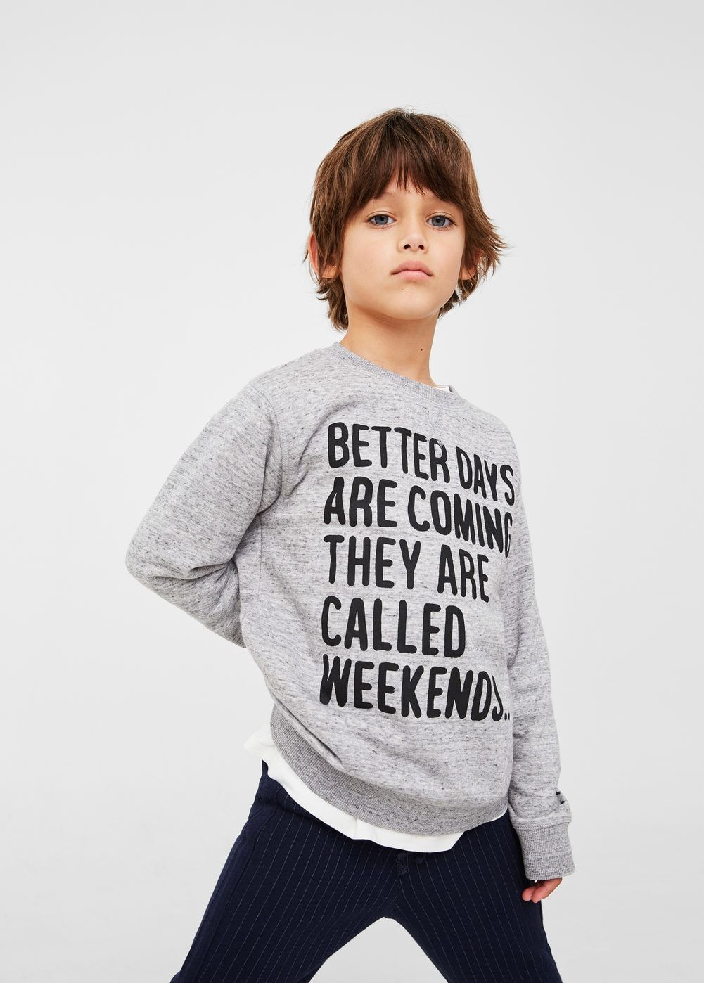 message cotton sweatshirt  boys  kids high fashion cool