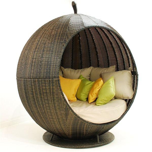 Maze Rattan Apple Day Bed Internet Gardener Luxury Garden Furniture Home Furniture Shopping Furniture