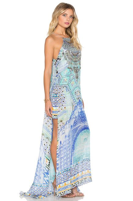 c0ce90ee85a Camilla Sheer Overlay Maxi Dress in Sultans Gate