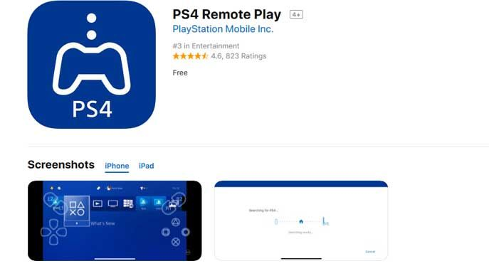Sony Releases A PS4 Remote Play App For iOS devices