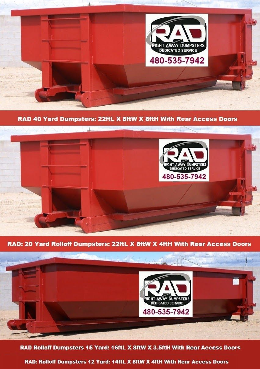 Arizona Trash Disposal Services Roll Off Dumpsters Rentals Mesa Az Right Away Disp Dumpster Rental Roll Off Dumpster Dumpsters
