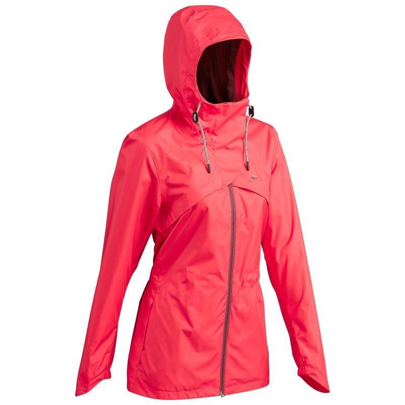 40. méret legjobb árak alacsony áron eladás Női kabát NH500, kiránduláshoz, vízhatlan, piros QUECHUA | Kabát ...