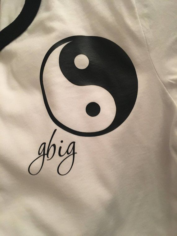 Yin Yang Sorority Family Shirts | Big Little Reveal Shirts | Ringer Tees | Ying Yang Big Little | Bi #biglittlereveal