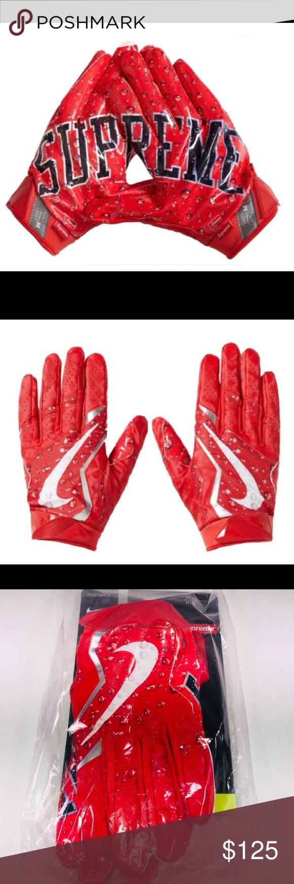 Supreme Nike Vapor Jet 4 0 Football Gloves Red Nike Vapor Black And Red Fashion Tips