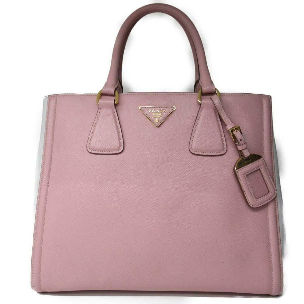 64d7043b612a auth PRADA shoulder tote bag BN2438 calf skin leather Pink x white Used  Vintage - Prada Handbag #prada #handbag - $745.00 End Date: Monday  Feb-25-2019 ...