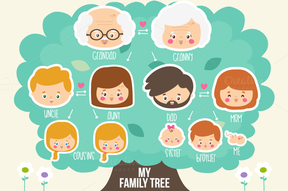 Creative Family Tree Template 38632 Usbdata