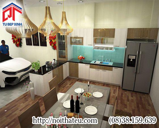 Tủ bếp gỗ MFC mang thiên nhiên vào ngôi nhà bạn PTM-7