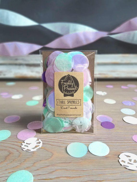 Table Sprinkles Lavender And Mint Confetti With Doilies 75 1