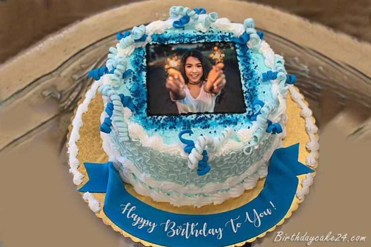 Latest Happy Birthday Cake With Name And Photo Edit in