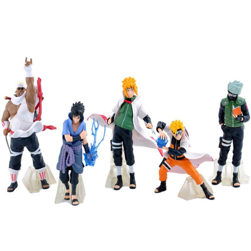 5pcs Set 12cm Naruto Rasengan Sasuke Plover Action Figure Pvc