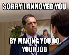 Angry customer service rep