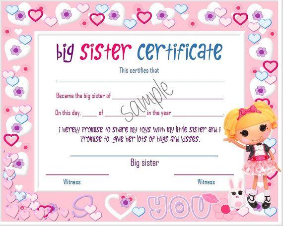 Lalaloopsy Big Sister Little Sister By Notestoselfdownloads Free Printable Art Prints Free Printable Certificate Templates Free Printable Art