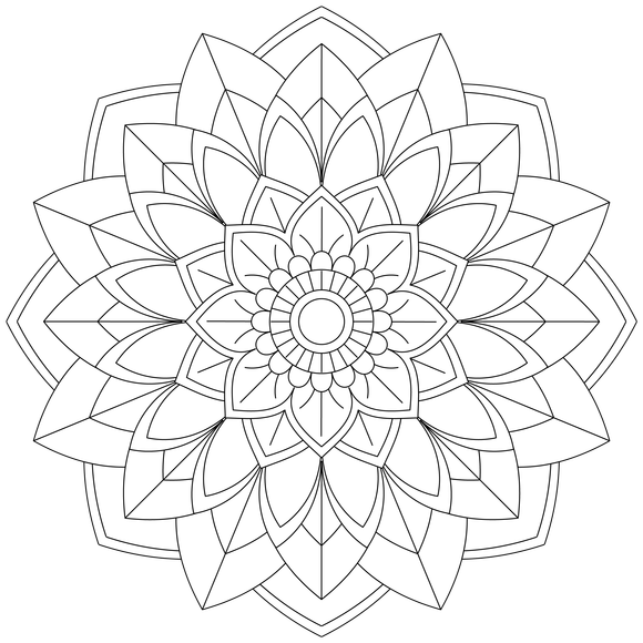 Mandala Monday 51 Free Download To Colour In Mandala Tattoo Design Mandala Coloring Pages Mandala Coloring