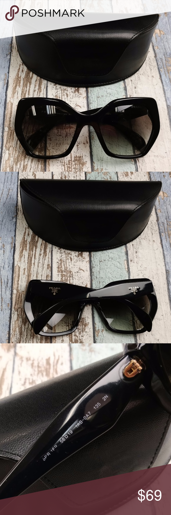 e64c9f45a6654 Italy! Prada SPR16P Women s Sunglasses  EUG345 Lens Condition  Lenses are  almost fine