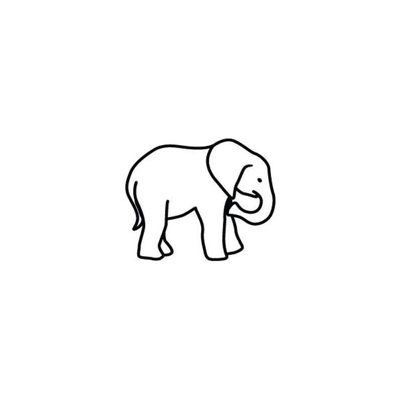 Tiny Elephant Temporary Tattoo Set Of 2 Etsy Elephant Tattoo Small Tattoo Set Elephant Outline Line black and white angle point, elephant outlines transparent background png clipart. tiny elephant temporary tattoo set of 2