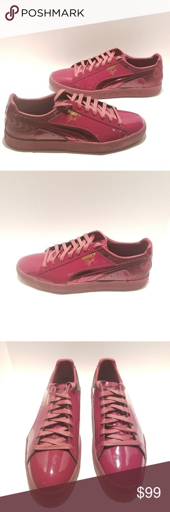 8ea84541ba1 Puma Clyde Wraith Pack Walt Clyde Frazier Shoes Style  Puma Clyde Wraith  Pack Walt Clyde Frazier Cordovan Patent Leather Shoes Color  Burgundy Size   11.5 ...