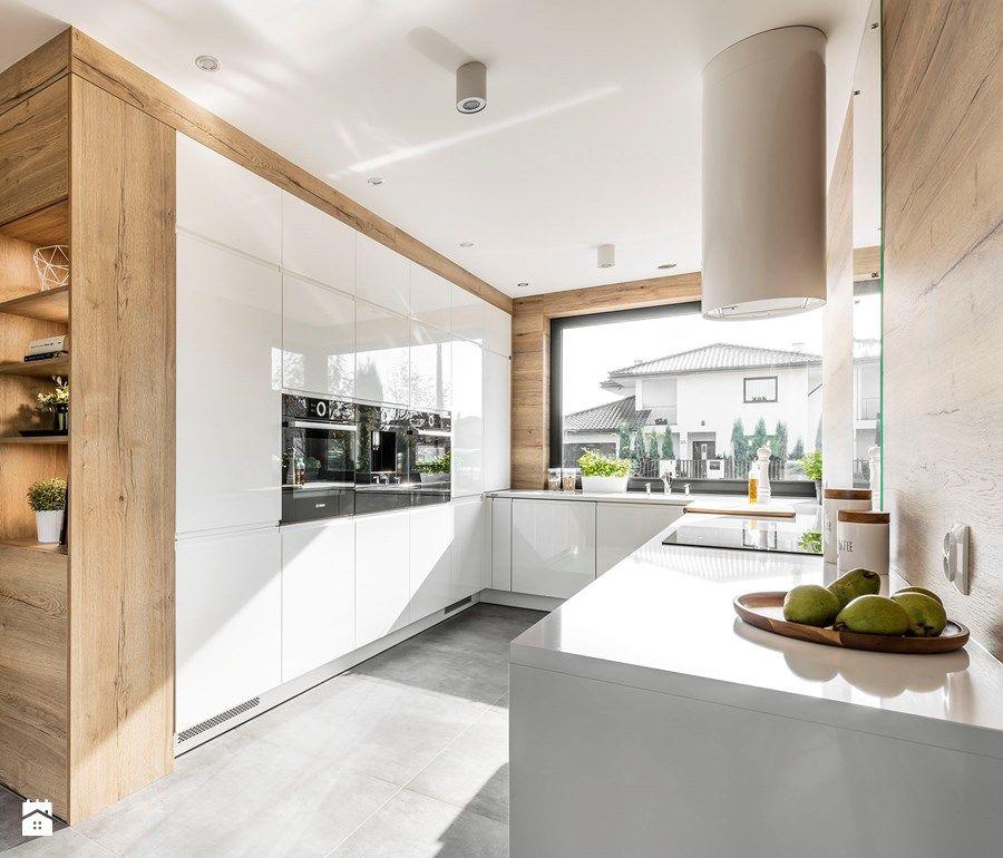 Moderne Küchen In Eiche Matt Weiss Kochinsel Einbaugerate | Küchen |  Pinterest | Kochinsel, Moderne Küche Und Eiche