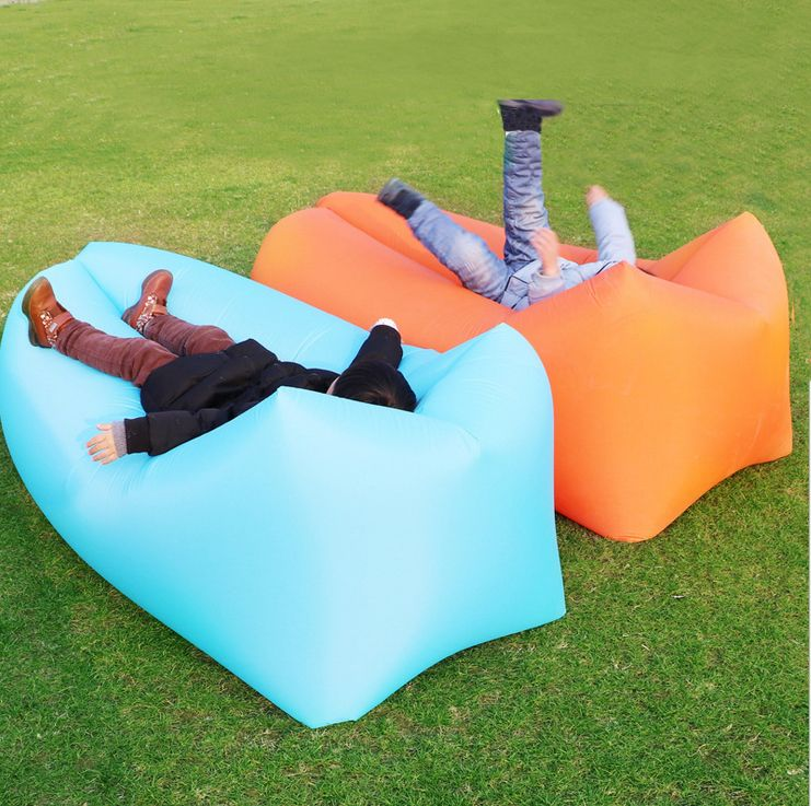 Ipree® Square-Headed Air Inflatable Lazy Sofa 210D Oxford Portable Travel Lay B