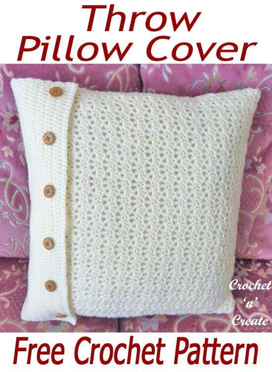 throw pillow cover free crochet pattern crochet for the house pinterest - Hakelmutzen Muster
