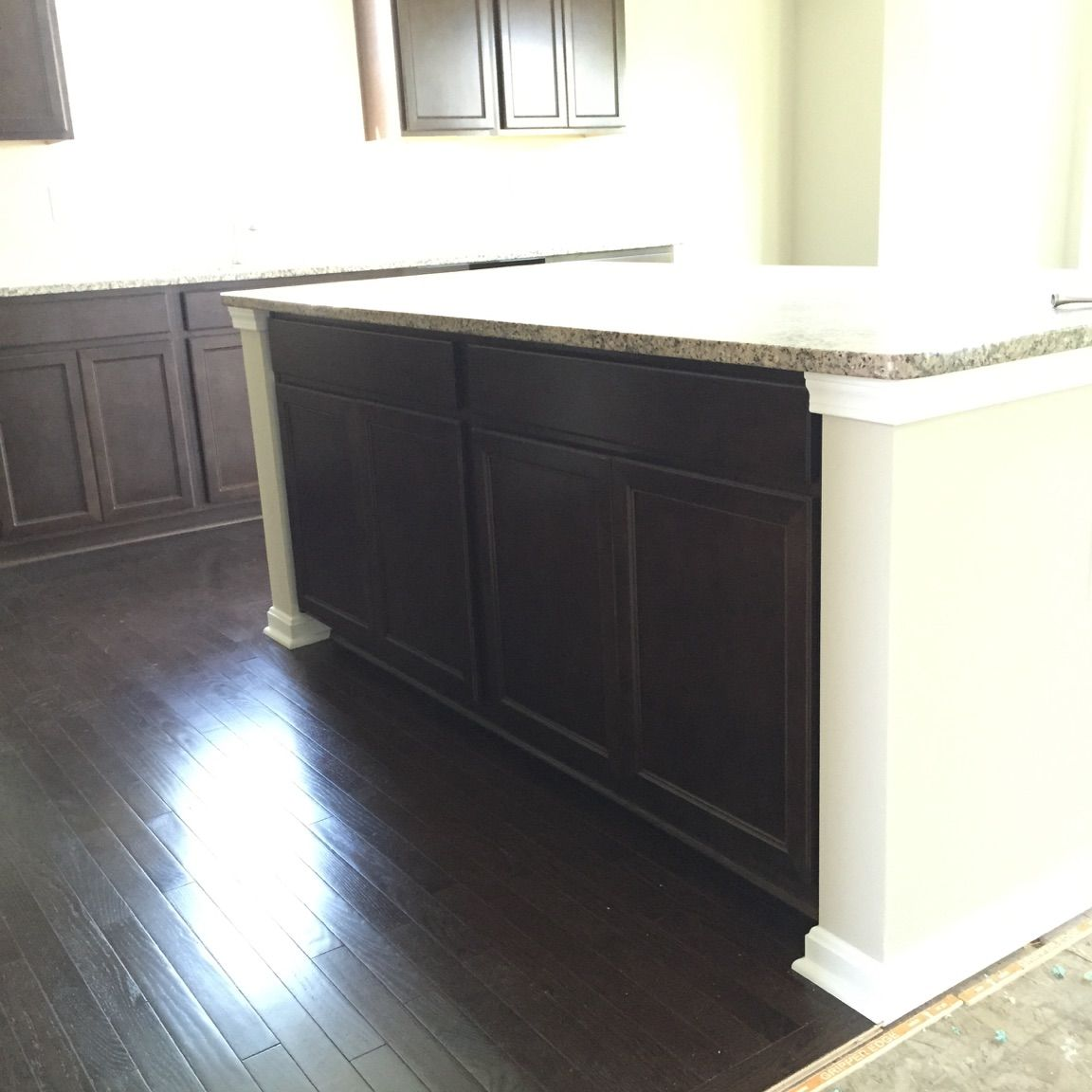 Standard Kitchen Island With Drywall Surrounding Cabinets Kitchen House Kitchen Cabinets