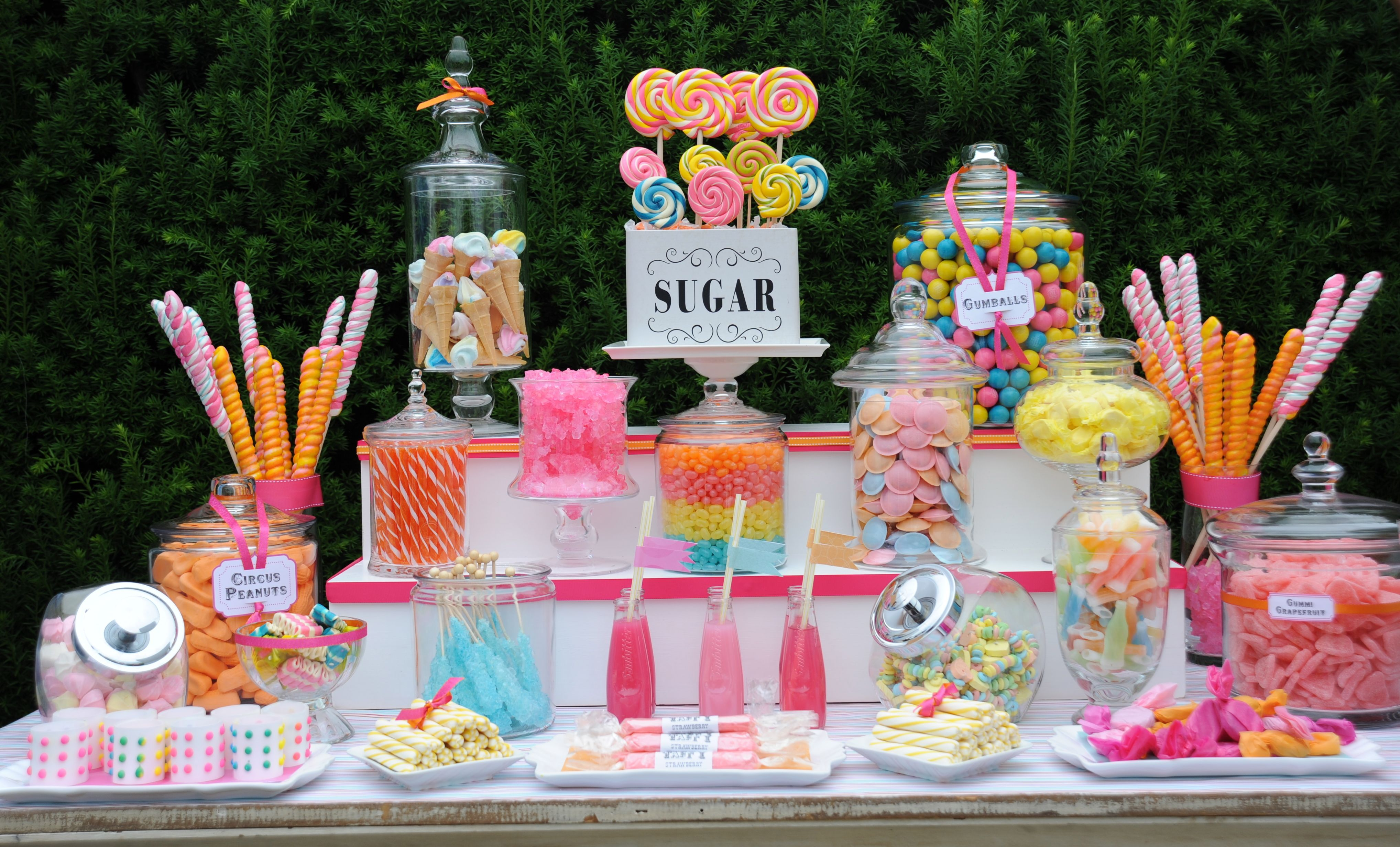 candy buffet i like the diff levels baby shower ideas